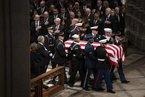 WATCH: Laughter and tears in heartfelt tributes at George HW Bush funeral service