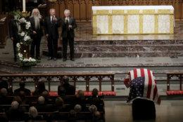 The Oak Ridge Boys perform during a funeral for former President George H.W. Bush at St. Martin's Episcopal Church Thursday, Dec. 6, 2018, in Houston. (AP Photo/Mark Humphrey)