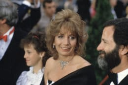 Actress Penny Marshall arrives for the 56th Annual Academy Awards in Los Angeles, April 9, 1984. (AP Photo/Reed Saxon)