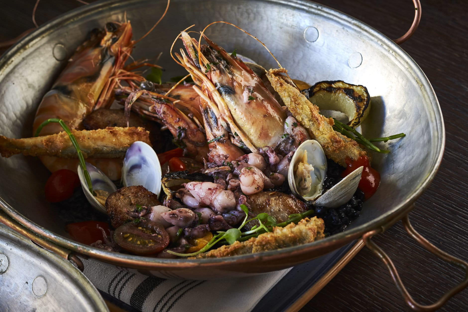 The arroz negro Portuguese seafood stew. (Courtesy Greg Powers)