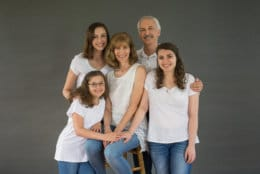 The Lang Family: Hannah, Mike, Kelly, Olivia and Anya. Seventeen years ago, several of the family members were involved in a crash that almost killed Olivia. (Courtesy / Sharon Hallman Photography)