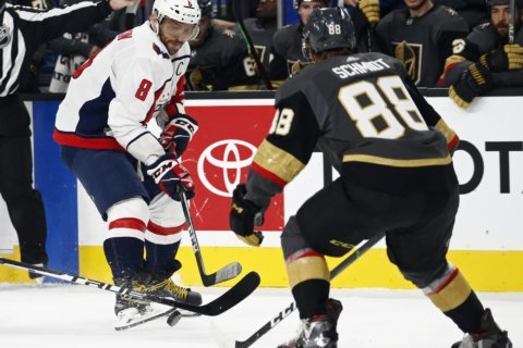 Schmidt scores twice to lift Vegas past Capitals 5-3