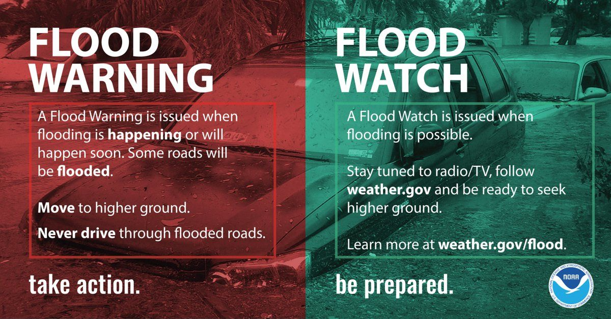 A flood watch for small streams creeks and urban areas is in effect from 6 p.m. Friday to 6 p.m. Saturday. (Courtesy NWS)
