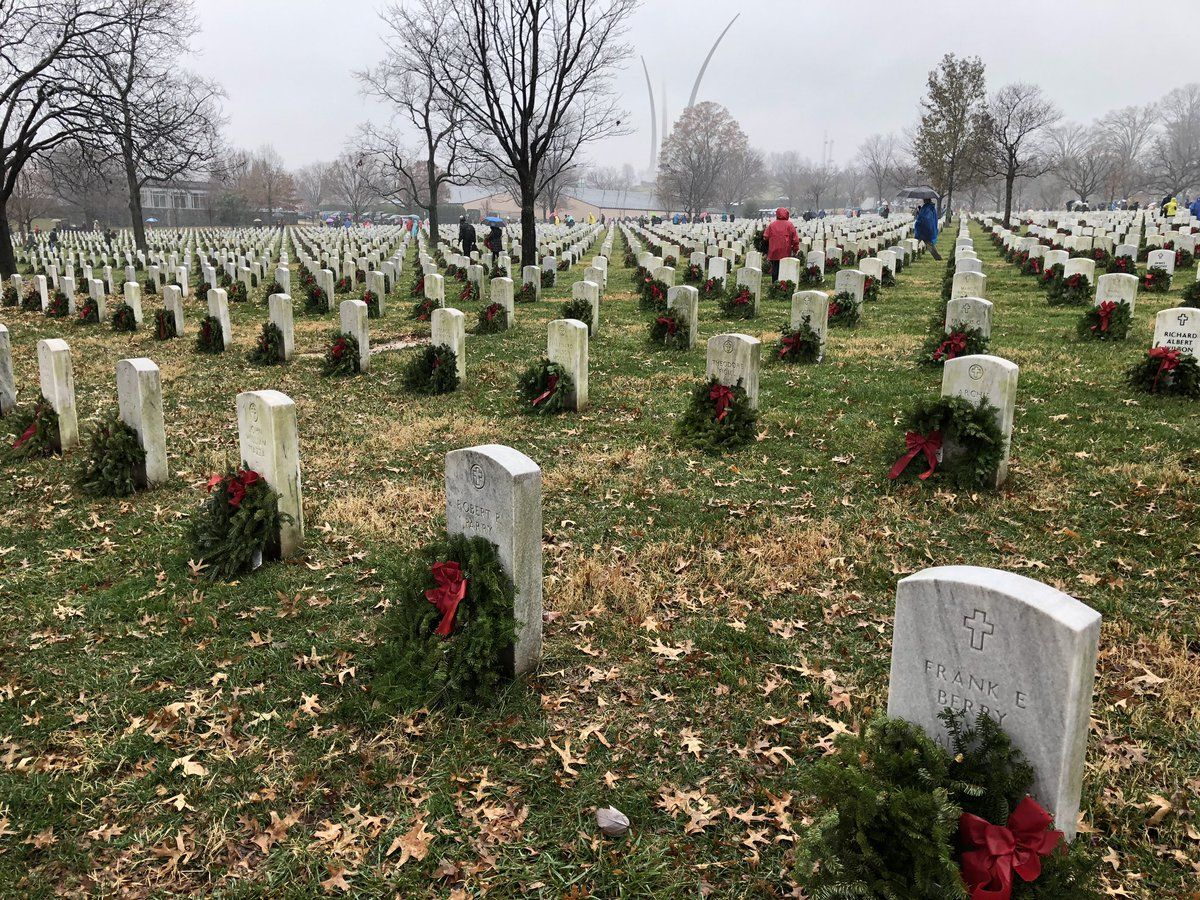 Volunteers laid about 253,000 wreaths at Arlington National Cemetery. (WTOP/Kristi King)
