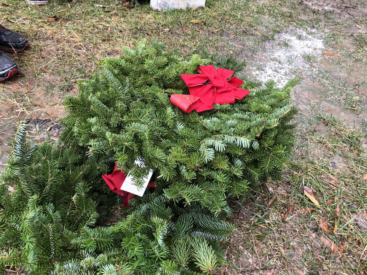 The wreaths are made in Maine every year. (WTOP/Kristi King)