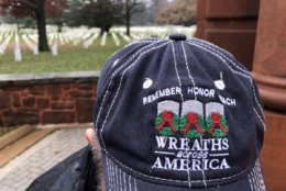 The Wreaths Across America caravan traveled for a week from Maine. (WTOP/Kristi King)