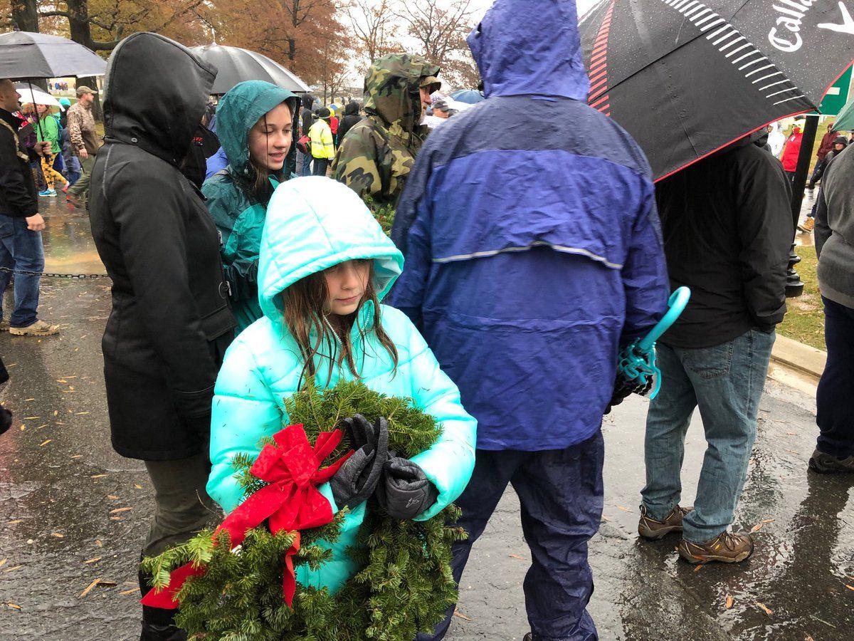 Katie Smith of Fairfax Station, Virginia, volunteered to lay wreaths. (WTOP/Kristi King)