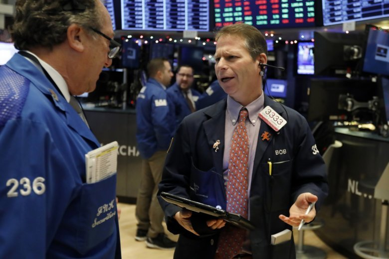 USA  stocks head sharply lower a day after Dow's record gain