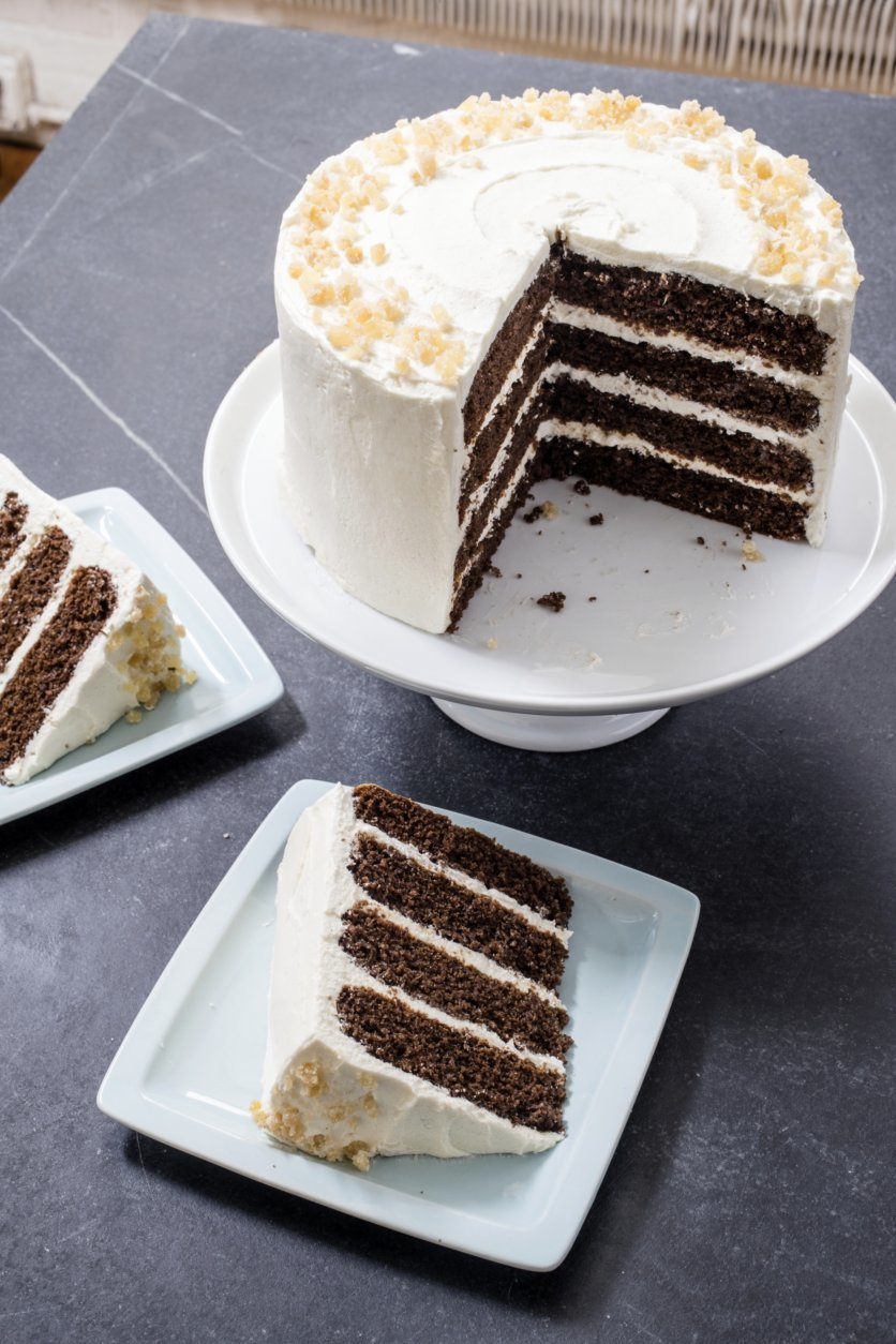 This undated photo provided by America's Test Kitchen in November 2018 shows Gingerbread Layer Cake in Brookline, Mass. (Carl Tremblay/America's Test Kitchen via AP)