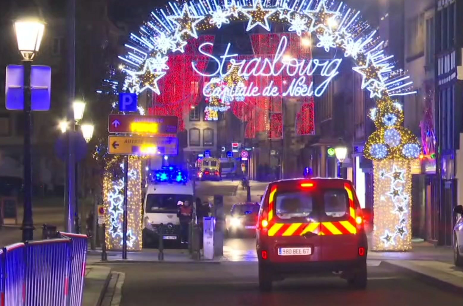 Strasbourg Christmas Market Shooting.Attack At Christmas Market In French City Kills 3 Wounds 12