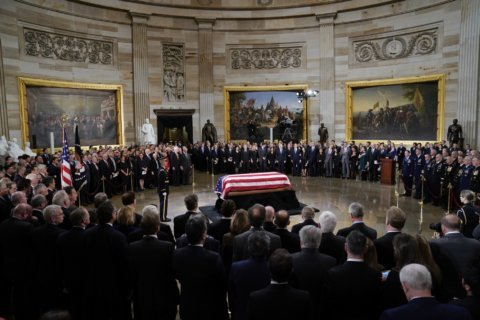 WATCH: Public honors George HW Bush at Capitol