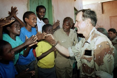 George H.W. Bush guided by concern for humanity