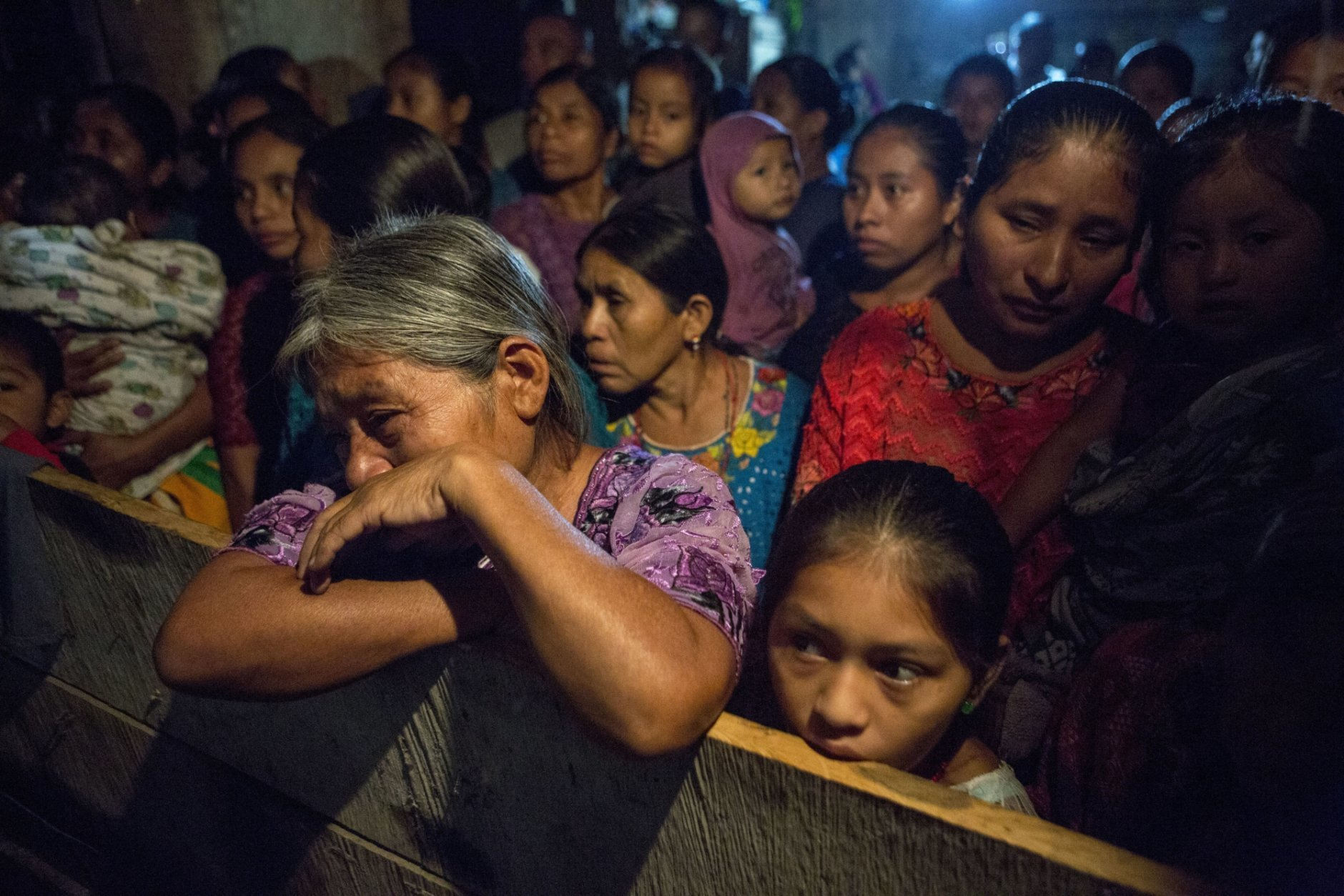 Elvira Choc grieves as she attends a memorial service for her 7-year-old granddaughter Jakelin Caal Maquin, in San Antonio Secortez, Guatemala, Monday, Dec. 24, 2018. The body of the 7-year-old girl who died while in the custody of the U.S. Border Patrol was handed over to family members in her native Guatemala on Monday for a last goodbye. (AP Photo/ Oliver de Ros)
