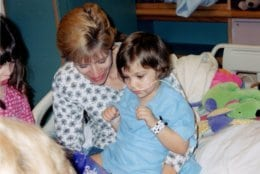 Olivia Lang in 2001, was hospitalized more than a month at the Kennedy Krieger Institute Pediatric Rehabilitation Unit after the crash. (Courtesy/ Kelly Lang)