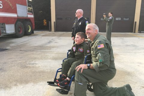 Severna Park boy gets promotion for a day and a wingman for life