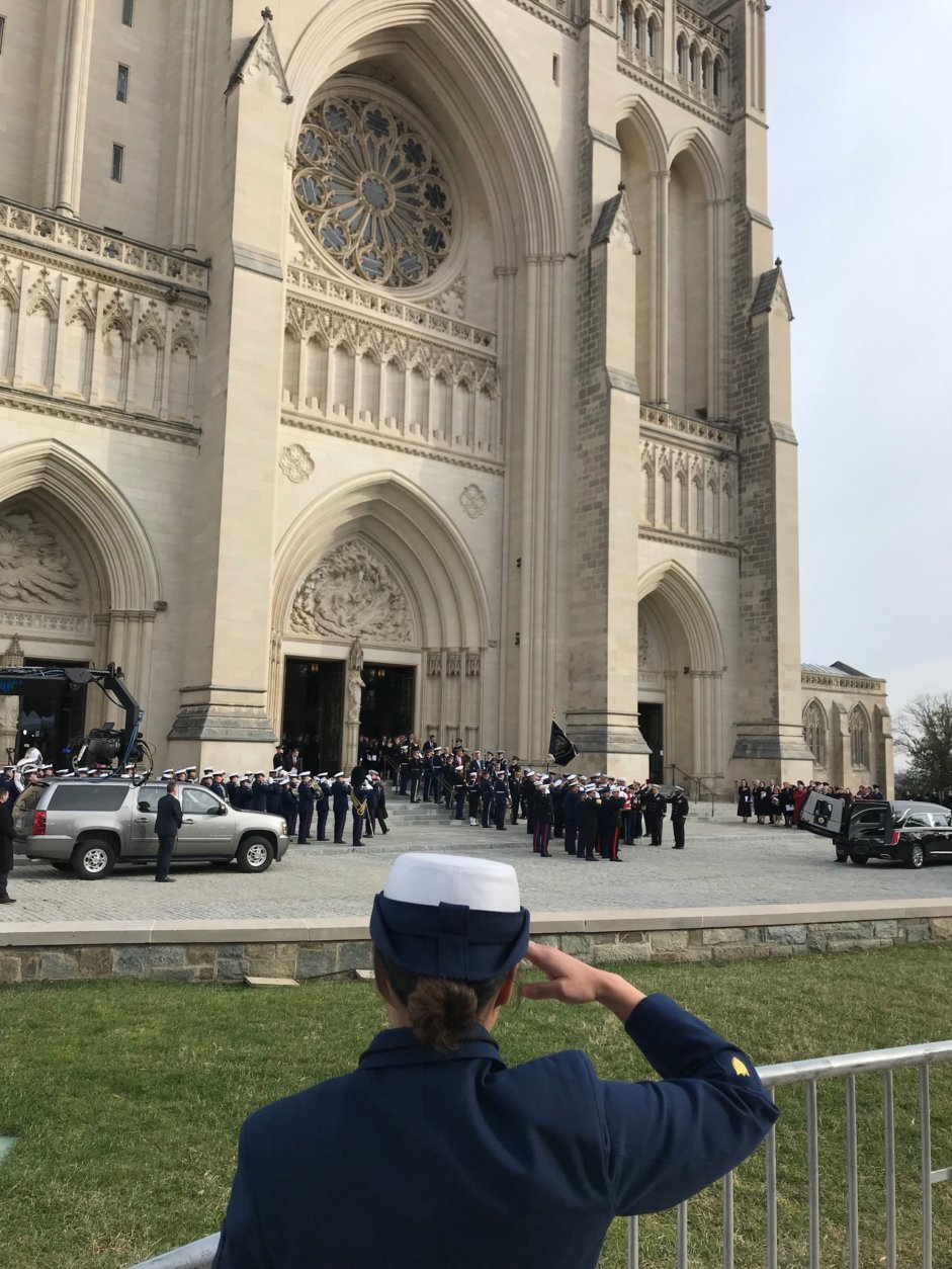 Washington says goodbye to George H.W. Bush at the National Cathedral. (WTOP/Mitchell Miller)