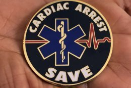 DC Fire and EMS Cardiac Arrest Save Coin. (WTOP/Kristi King)