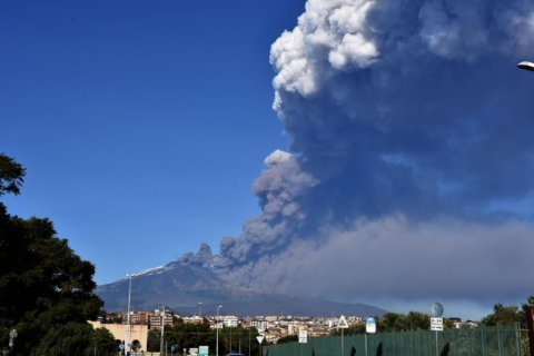 Lava, ash spew from new fracture on Italy's Mount Etna