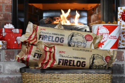 Like the smell of KFC? There's a firelog for that