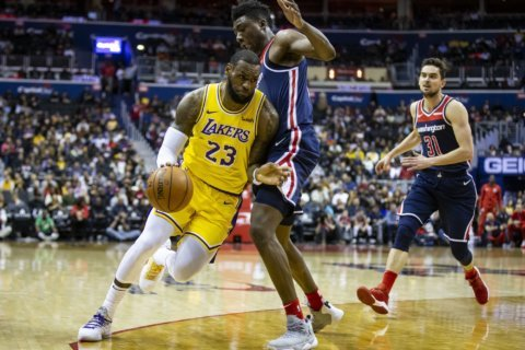 Wizards look for sweep of the Lakers