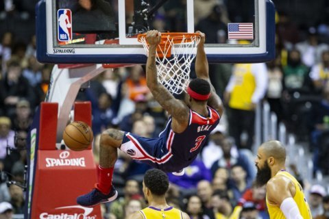 Wall leads Wizards past Lakers 128-110