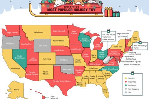 Barbie Dreamhouse, Legos or Fortnite? Here's the most popular toys bought online in each state — and DC