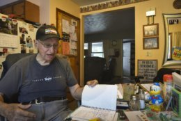 """In this Wednesday, Aug. 29, 2018 photo Don West, 90, speaks from his Eaton Rapids, Mich., home. His wife has lived in a retirement home in Charlotte since her June 2017 stroke. """"I visit every day - I haven't missed one day,"""" West said. (Matthew Dae Smith/Lansing State Journal via AP)"""