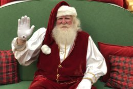 Santa has been visiting Tysons Corner Center for nearly 30 years. (WTOP/Rachel Nania)
