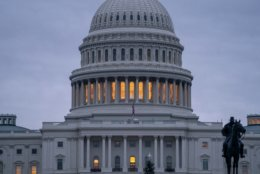 The Capitol is seen under early morning gray skies in Washington, Thursday, Dec. 20, 2018. The Senate approved legislation to temporarily fund the government late last night, a key step toward averting a federal shutdown after President Donald Trump backed off his demand for money for a border wall with Mexico.  The House is expected to vote before Friday's deadline, when funding for a portion of the government expires. Without resolution, more than 800,000 federal workers would face furloughs or be forced to work without pay, disrupting government operations days before Christmas.  (AP Photo/J. Scott Applewhite)