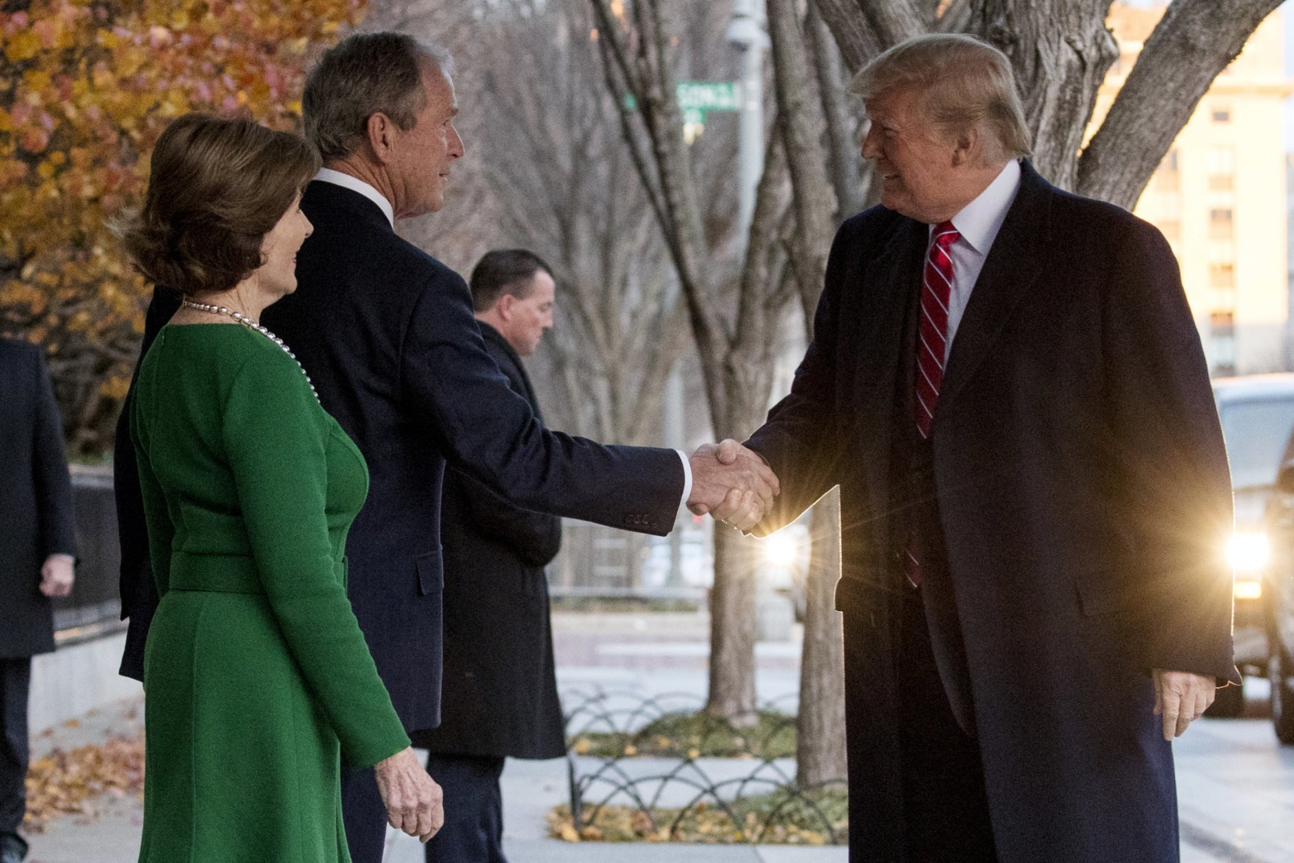 Donald Trump, George Bush, Laura Bush