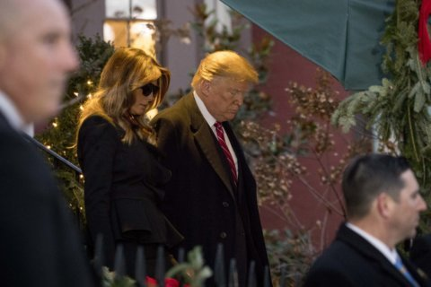 Trump odd man out as presidents assemble for Bush funeral
