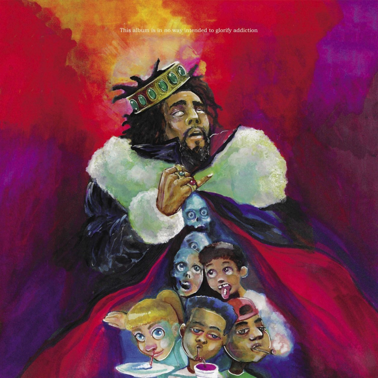 """This cover image released by Dreamville/Roc Nation/Interscope Records shows """"KOD,"""" by J. Cole, named one of the top albums of the year.  (Dreamville/Roc Nation/Interscope Records via AP)"""