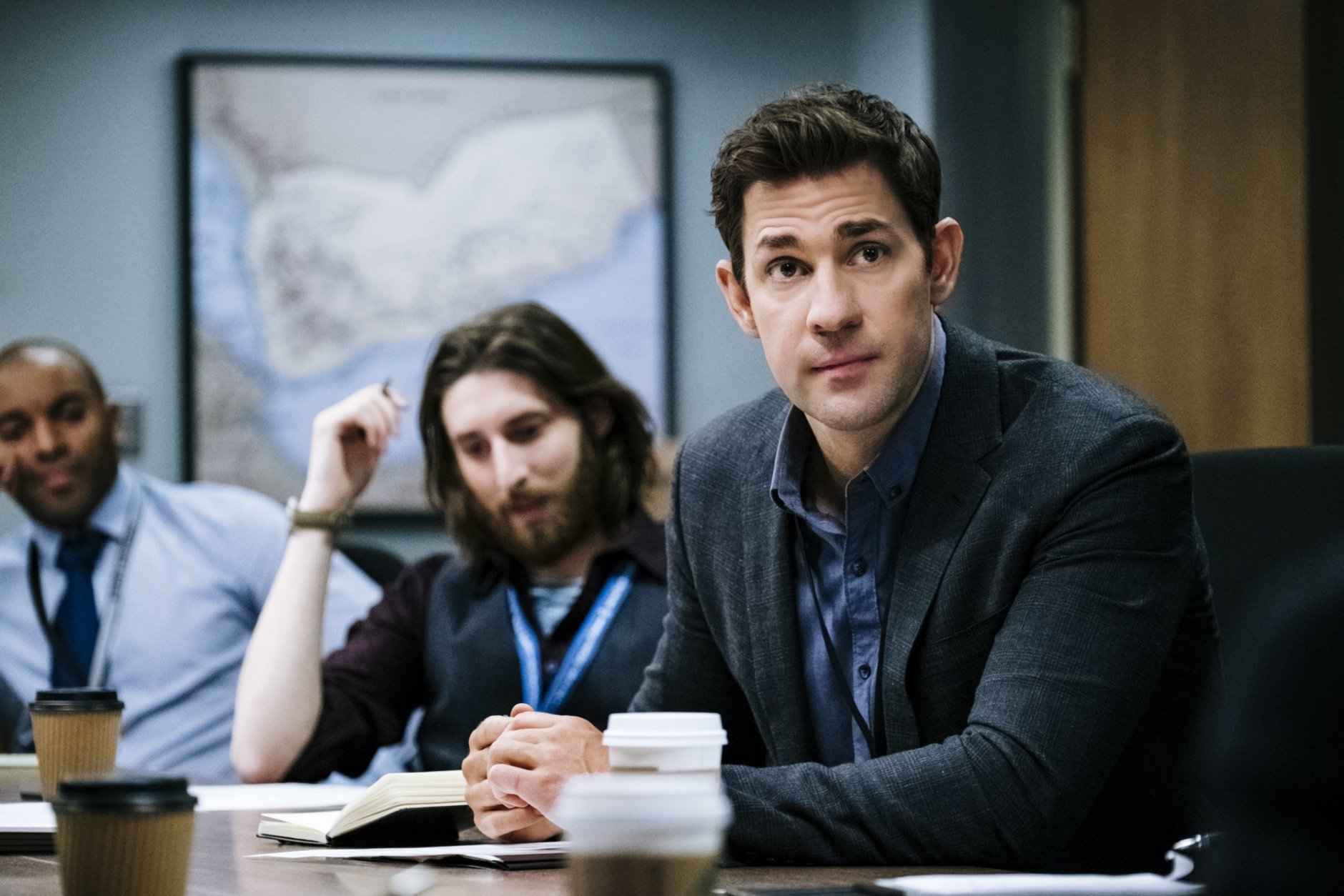 "This image released by Amazon shows John Krasinski in a scene from ""Tom Clancy's Jack Ryan."" The program was named one of the top ten TV shows of 2018 by the Associated Press. (Jan Thijs/Amazon via AP)"