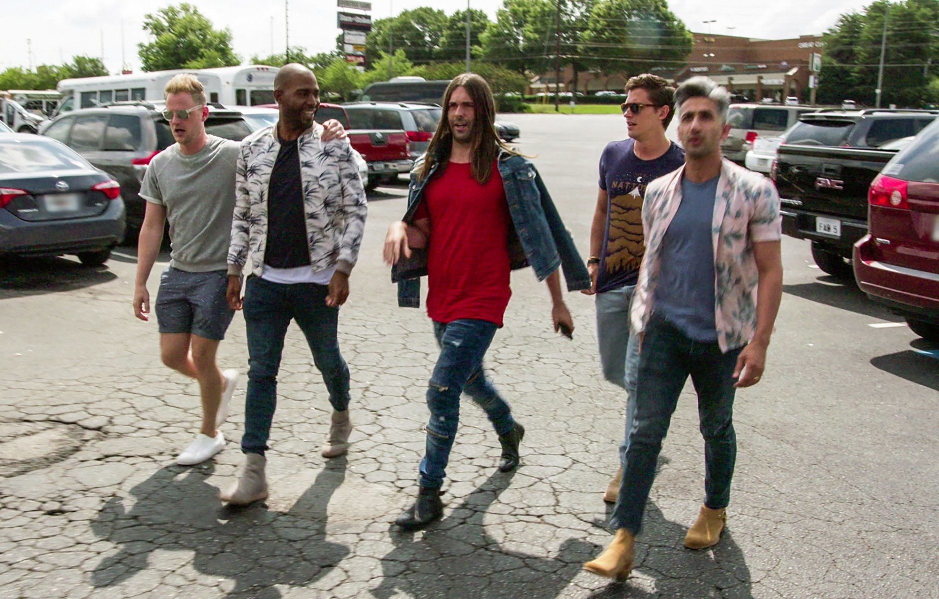 "This image released by Netflix shows the cast of ""Queer Eye."" The program was named one of the top ten TV shows of 2018 by the Associated Press. (Netflix via AP)"