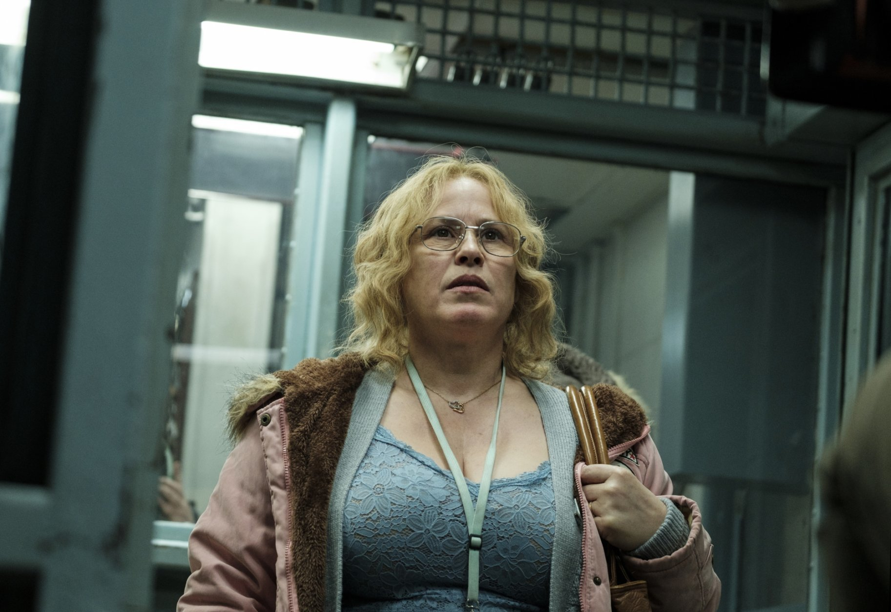 "This image released by Showtime shows Patricia Arquette in a scene from ""Escape at Dannemora."" The program was named one of the top ten TV shows of 2018 by the Associated Press. (Christopher Saunders/Showtime via AP)"