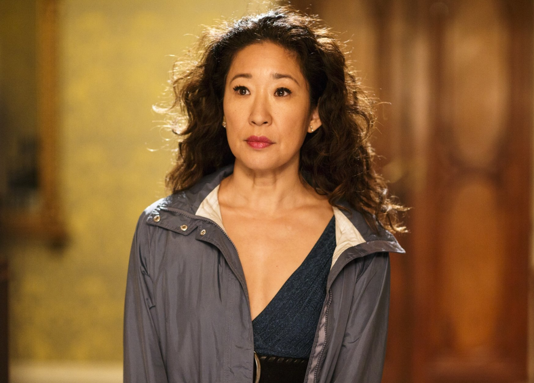 "This image released by BBC America shows Sandra Oh in a scene from ""Killing Eve.""  The program was named one of the top ten TV shows of 2018 by the Associated Press. (BBC America via AP)"