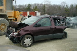The minivan that Kelly Lang and her family were driving on the day of the crash. (Courtesy/Kelly Lang)
