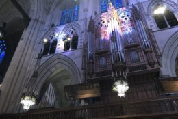 The cathedral choir and military musicians will rehearse on Tuesday midday. (WTOP/Kristi King)