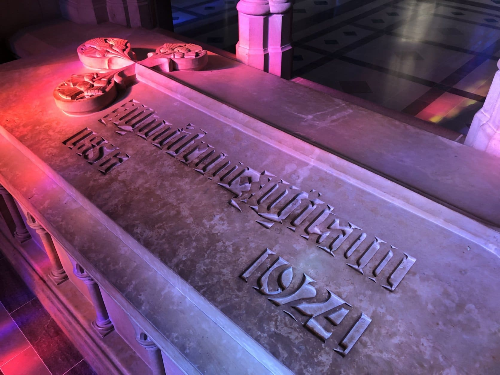 The only U.S. president buried in the nation's capital is Woodrow Wilson, who is interred at the cathedral with his wife, Edith. (WTOP/Kristi King)