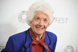 "FILE - In this Sept. 15, 2014, file photo, Charlotte Rae arrives at the 2014 PALEYFEST Fall TV Previews - ""The Facts Of Life"" Reunion in Beverly Hills, Calif. Rae recounts in her new autobiography, her own life bore little resemblance to the sitcom-grade serenity of her ""Facts of Life"" character, Edna Garrett, instead marked by challenges that included son Andy's autism and her husband's late-in-life disclosure that he was bisexual and wanted an open marriage. (Photo by Richard Shotwell/Invision/AP, FILE)"