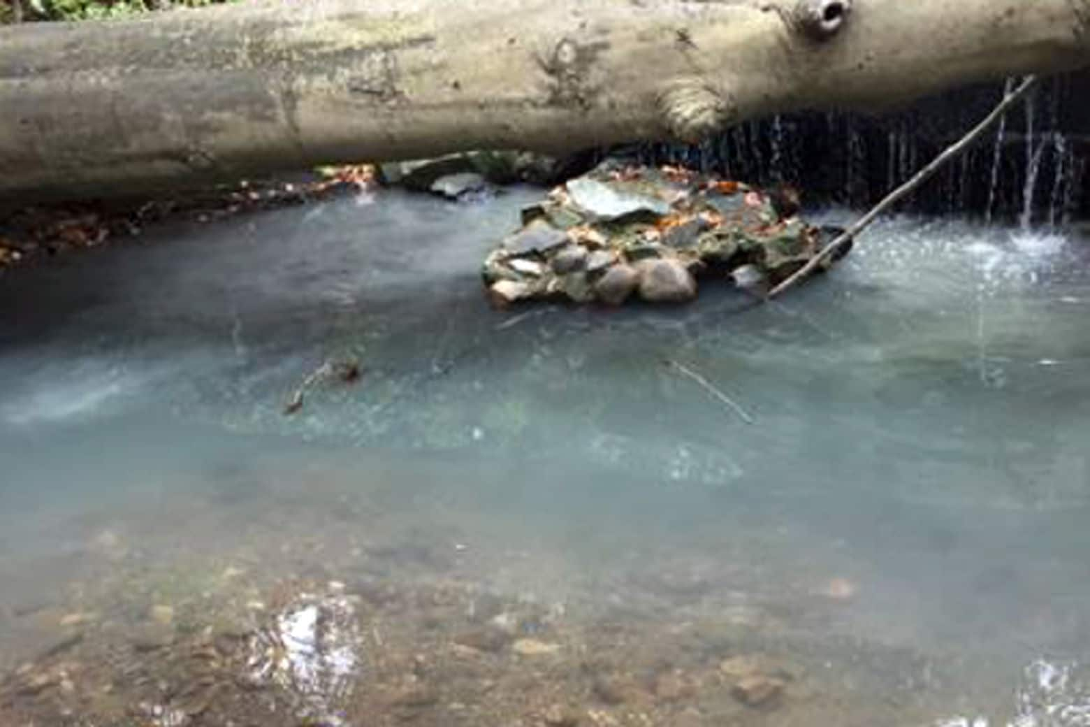 Illicit discharge at Normanstone Run. (Courtesy Mike Kolian)