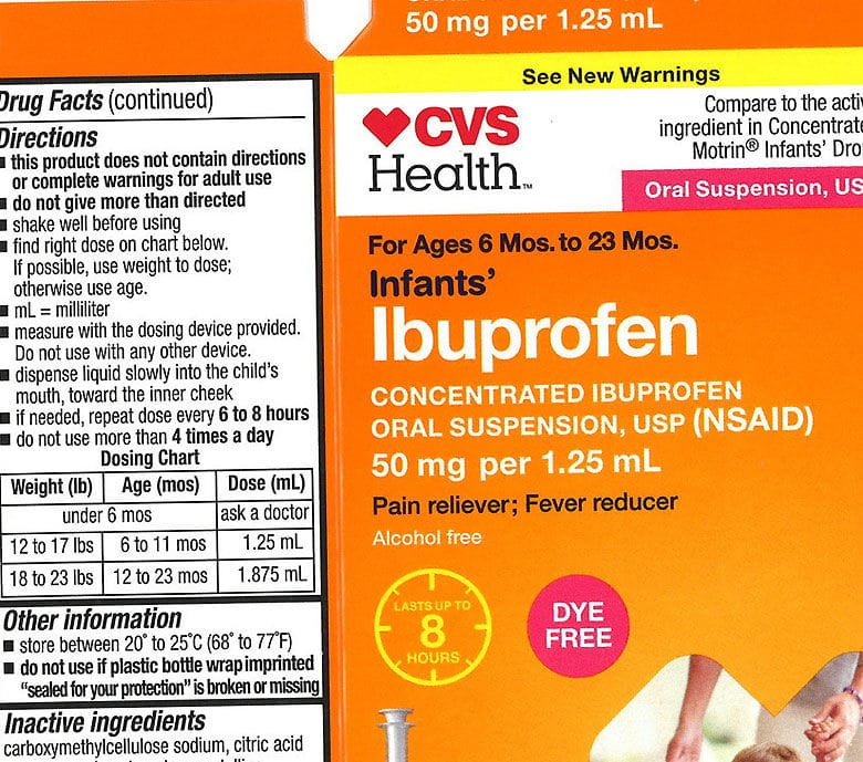 Baby ibuprofen sold at Walmart and CVS recalled by