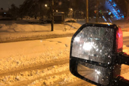 Jim Moshos sent in this photo of the streets in Richmond earlier Sunday night. (Courtesy Jim Moshos)