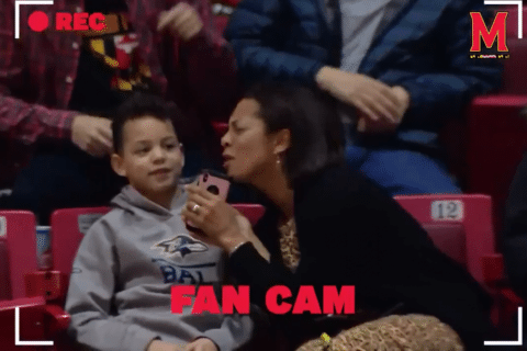WATCH: Mother embarrasses son on Terps' fan cam