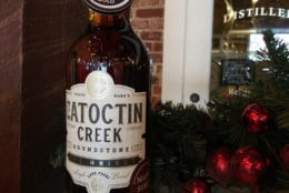 Maple syrup-finished rye whiskey from Purcellville's Catoctin Creek. (Courtesy Catoctin Creek)