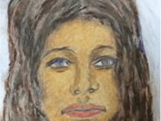 Samuel Little's sketch of his alleged 1972 Laurel, Maryland, victim. (Courtesy Prince George's County police)