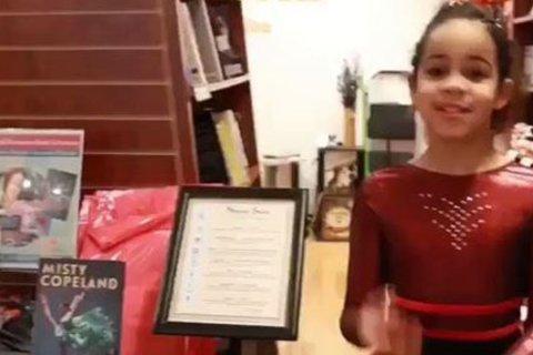 Misty Copeland surprises 7-year-old ballerina who raised money to donate books
