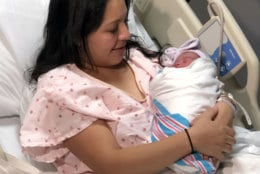 Julie Palancia holds newborn daughter Meilani Morales. (Courtesy Adventist HealthCare Shady Grove Medical Center)