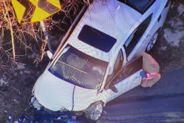 A man driving one of the vehicles died at the scene. Two other people were taken to the hospital, including a woman with life-threatening injuries. (Courtesy NBC Washington)