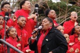 The Cardinal Shehan Catholic School Choir from Baltimore performs at Gov. Larry Hogan's inauguration. (WTOP/Kate Ryan)